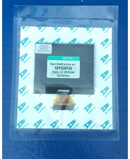Pantalla LCD SEPDISP26 72x96 pixeles